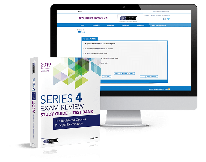 Series 4 exam review and test bank