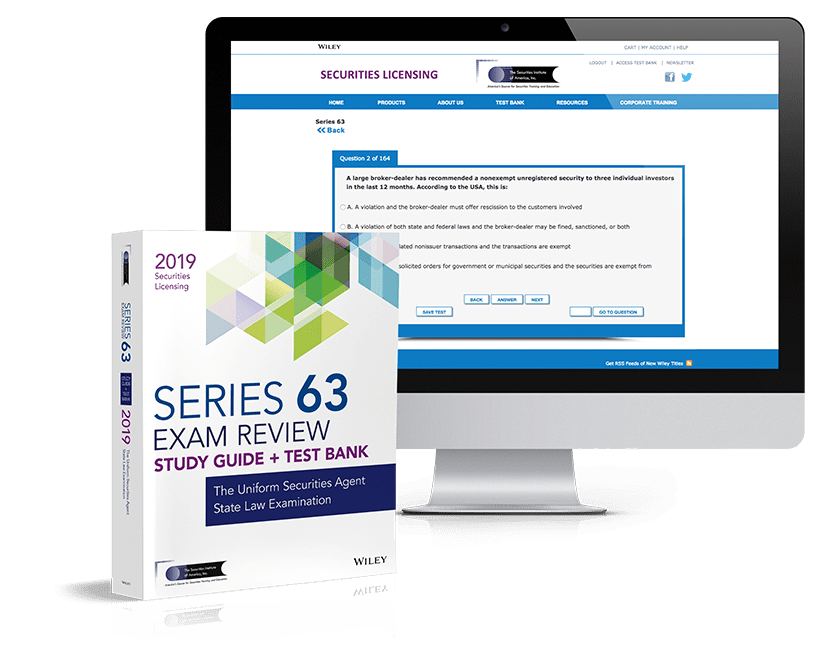 Series 63 exam review and test bank